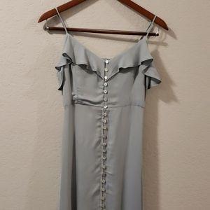 Dusty Green Thin Strap Maxie Dress | Size S